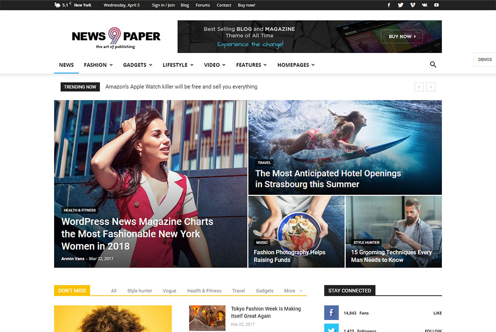 e599d4898990a Newspaper is the best selling news/magazine WordPress theme of all time.  You can create a great news, blog, or magazine website by using Newspaper  template.