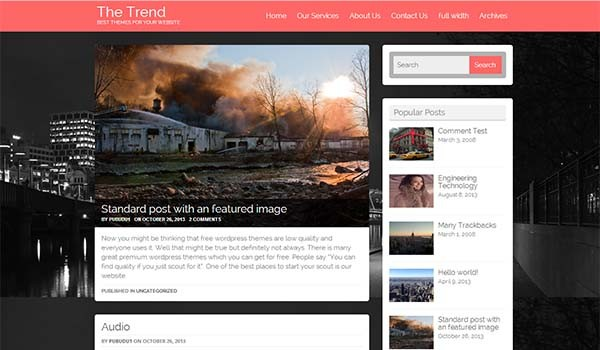 Trend WordPress Theme Screenshot.