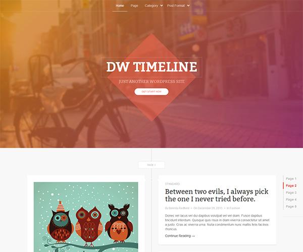 DW Timeline wordpress theme