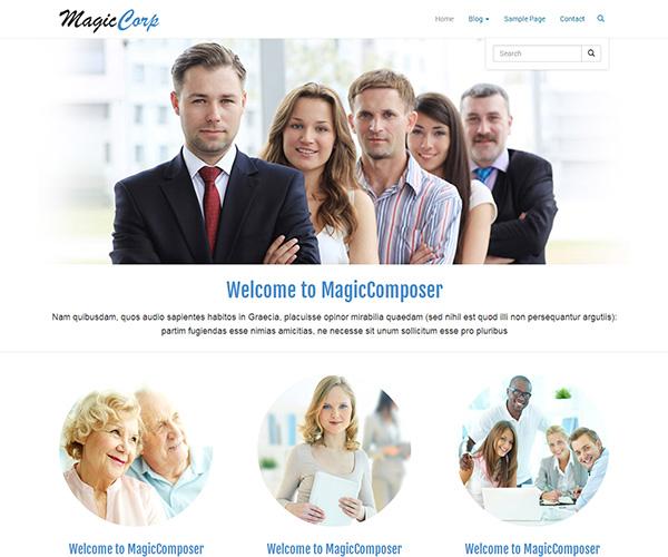 MagicCorp WordPress Theme