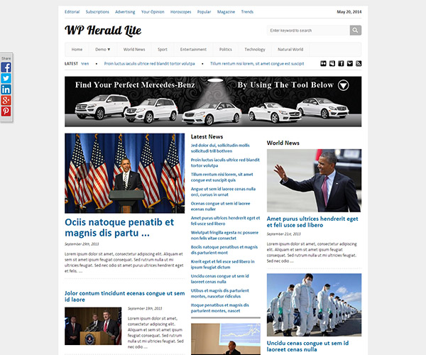 WPHerald Lite WordPress Theme