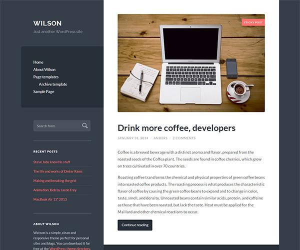 Wilson wordpress theme