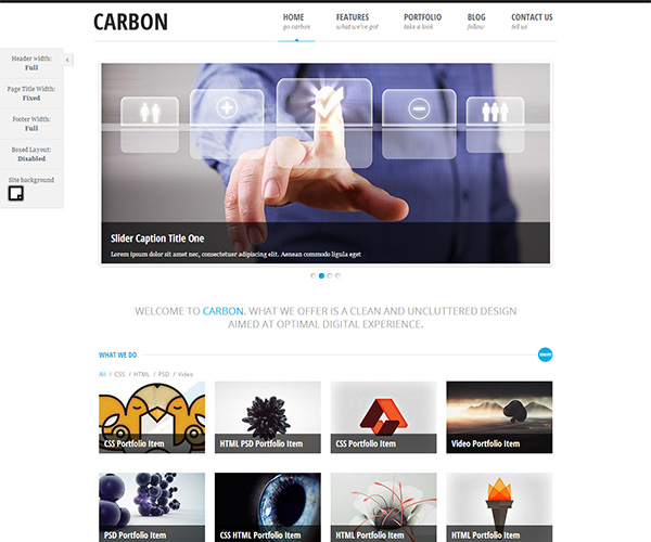Carbon Light WordPress theme
