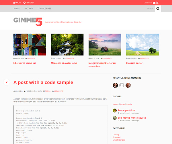 Gimme5 WordPress Theme