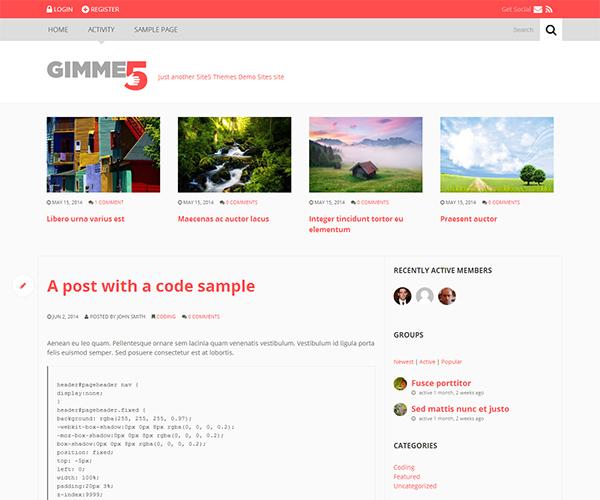 Gimme5 WordPress Theme