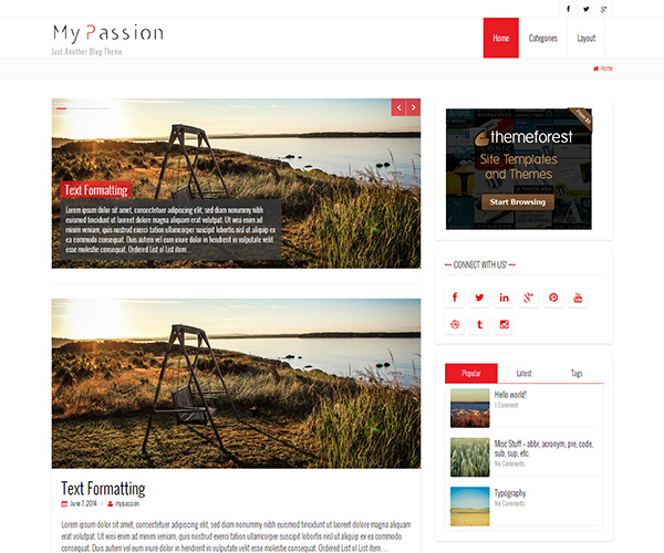 My Passion WordPress Theme