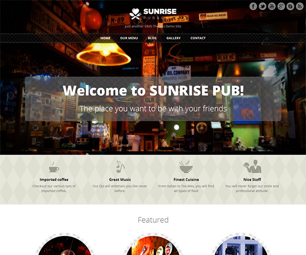 Sunrise WordPress Theme