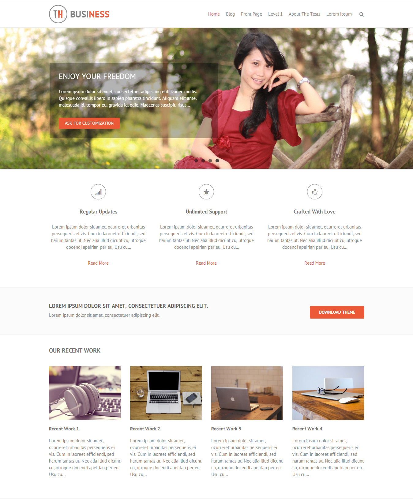 THBusiness WordPress Theme