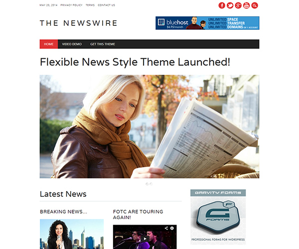 The Newswire WordPress Theme