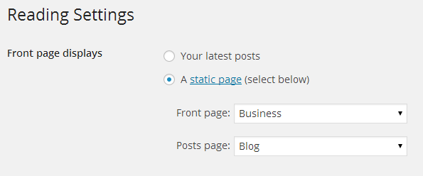 business template setting