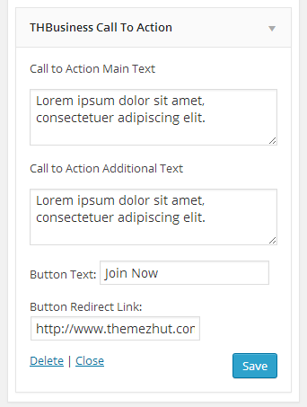 thbusiness call to action widget