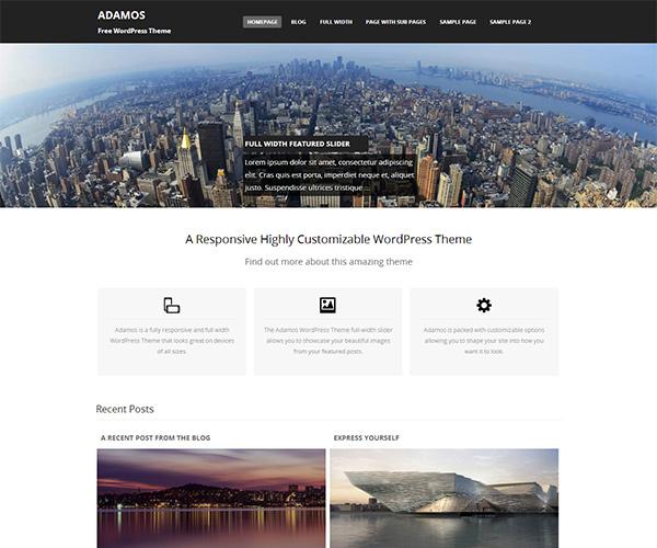 ADAMOS WordPress Theme