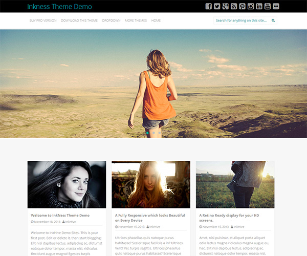 Inkness WordPress Theme