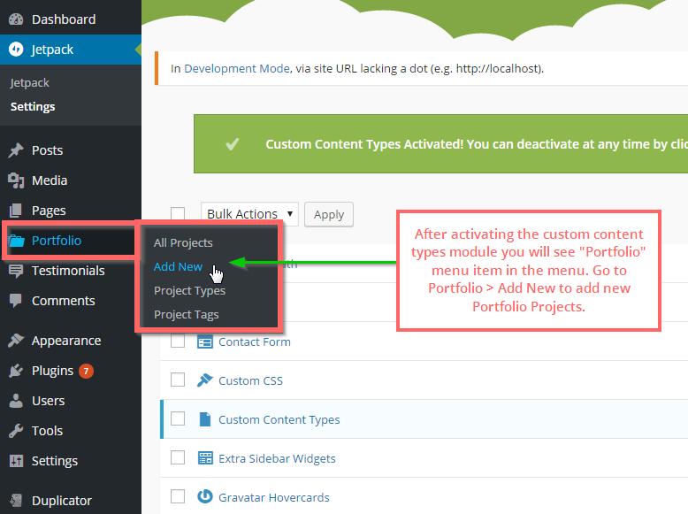 2.Add New Portfolio Projects.