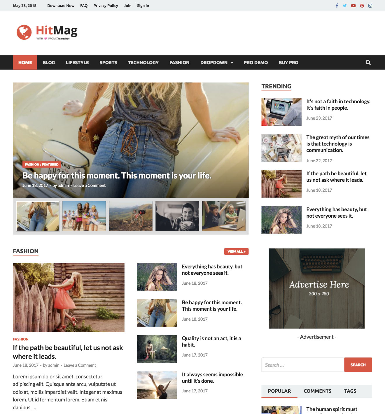 Hitmag Wordpress Theme