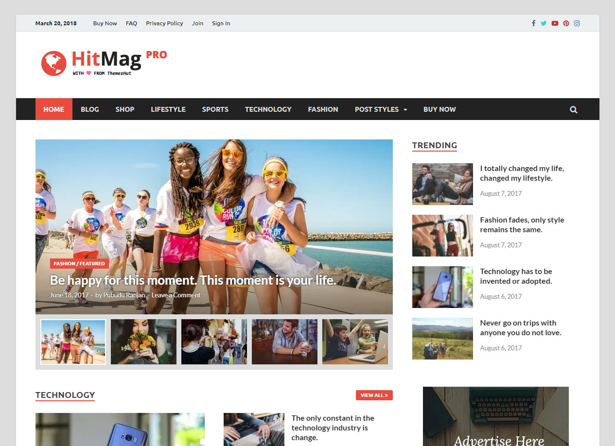 HitMag Pro WordPress Theme